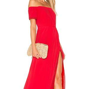 Lovers + Friends HAVANA red MAXI dress